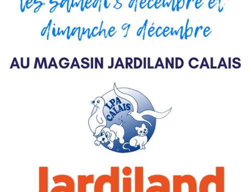 Collecte au profit de la LPA de Calais au magasin Jardiand !